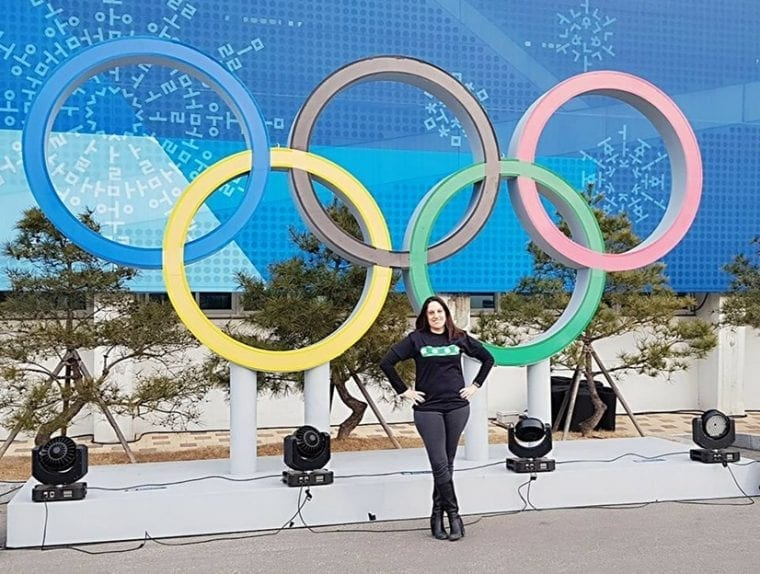 Kristen Lipscombe Olympic Rings February 2018