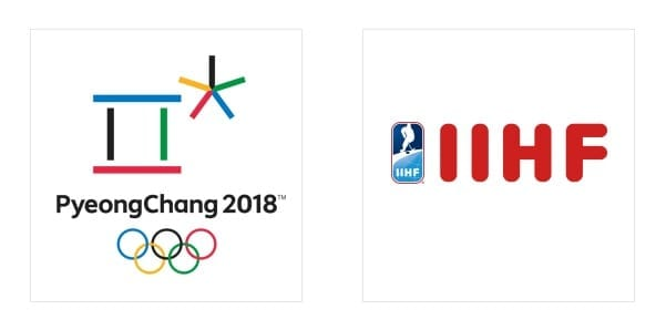 PyeongChang and IIHF logo