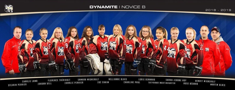 Gatineau Dynamites Girls' Hockey Team