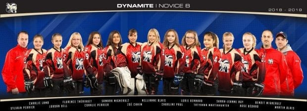 Gatineau Dynamites Girls' Hockey Team
