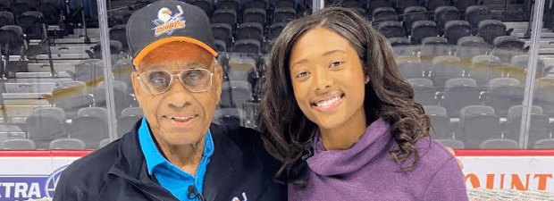 (Willie O'Ree and Blake Bolden)